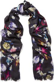 Lily And Lionel , Renee Printed Silk Scarf Black