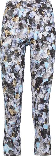 Live The Process , Cropped Printed Stretch Jersey Leggings Multi