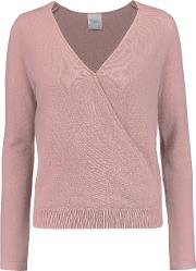 Madeleine Thompson , Denton Wrap Effect Cashmere Sweater Antique Rose