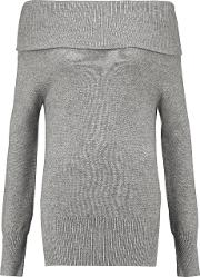 Madeleine Thompson , Draped Cashmere And Wool Blend Sweater Light Gray