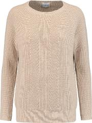 Madeleine Thompson , Ribbed Knit Wool And Cashmere Blend Sweater Beige