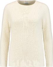 Madeleine Thompson , Ribbed Knit Wool And Cashmere Blend Sweater Cream
