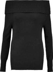 Madeleine Thompson , Turtleneck Ribbed Cashmere And Wool Blend Sweater Black