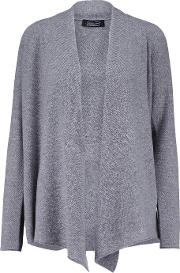 Magaschoni , Draped Cashmere Cardigan Gray