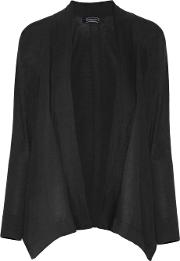 Magaschoni , Draped Cotton Cardigan Black