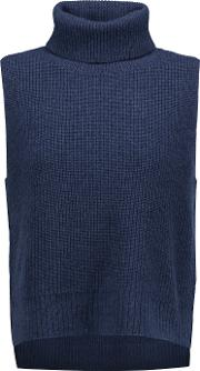 Magaschoni , Ribbed Wool And Cashmere Blend Turtleneck Sweater Midnight Blue