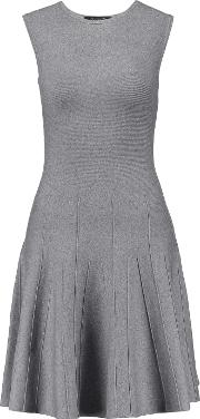 Magaschoni , Silk Blend Jersey Mini Dress Gray