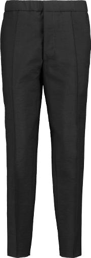 Marni , Wool Blend Tapered Pants Black