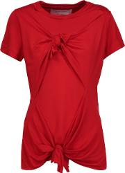 Marques Almeida , Marques' Almeida Knotted Stretch Jersey T Shirt Red