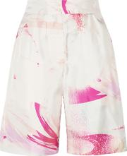 Matthew Williamson , Printed Silk Twill Shorts Pink