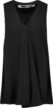 Mcq Alexander Mcqueen , Draped Crepe Top Black