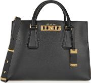 Michael Kors Collection , Large Leather Tote Black