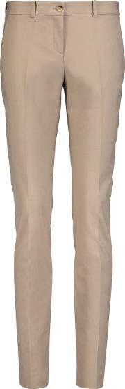 Michael Kors Collection , Stretch Cotton Slim Leg Pants Sand