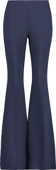 Michael Kors Collection , Wool Crepe Bootcut Pants Navy