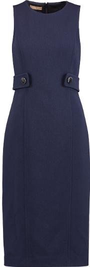 Michael Kors Collection , Wool Crepe Midi Dress Midnight Blue