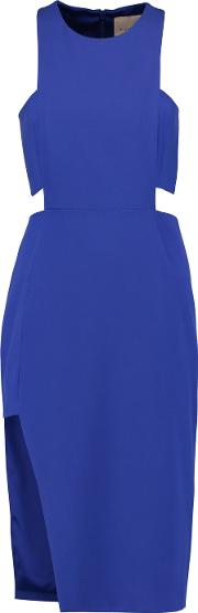 Michelle Mason , Cutout Bandeau Dress Royal Blue