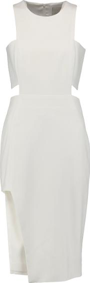 Michelle Mason , Cutout Cady Dress Ivory
