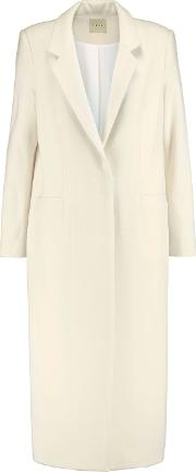 Michelle Mason , Wool Blend Coat Ivory