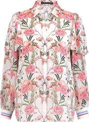Mother Of Pearl , Mabel Floral Print Silk Blouse Multi