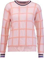 Mother Of Pearl , Noah Wool Jacquard Sweater Baby Pink