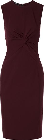 Narciso Rodriguez , Twist Front Wool Gabardine Dress Merlot