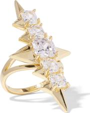 Noir Jewelry , Mirach Gold Tone Crystal Ring 5