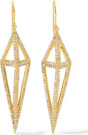 Noir Jewelry , Montaillou Gold Tone Crystal Earrings One Size