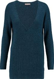 Npeal Cashmere , N.peal Cashmere Ribbed Cashmere Sweater Petrol