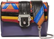 Paula Cademartori , Carine Paneled Leather Shoulder Bag Multi