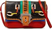 Paula Cademartori , Sylvie Petite Embellished Leather Shoulder Bag Multi