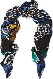Peter Pilotto , Printed Silk Scarf Multi