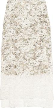 Preen By Thornton Bregazzi , Lace Skirt Ivory