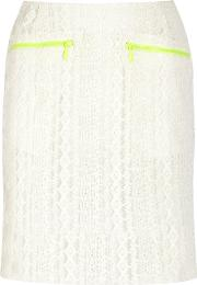 Preen Line , Ines Embroidered Tulle Skirt White