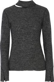 Protagonist , Cutout Wool Turtleneck Sweater Charcoal