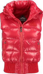Pyrenex , New Mythic Quilted Glossed Shell Down Gilet Red