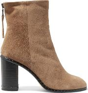 Rag & Bone , Blyth Studded Suede Ankle Boots Light Brown