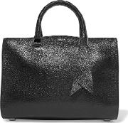 Rochas , Saint Glossed Textured Leather Tote Black