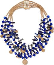 Rosantica , Gold Tone Beaded Necklace One Size