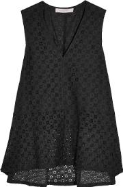 See By Chloe , Broderie Anglaise Top Black
