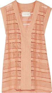 Solid And Striped , The V Pullover Striped Stretch Cotton Blend Dress Antique Rose