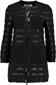 Sonia Rykiel , Tweed Coat Black