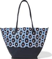 Sophie Anderson , Brenna Painted Textured Leather Tote Midnight Blue