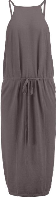 Soyer , Olivia Wrap Effect Cashmere Dress Gray