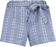 Splendid , Cotton Jacquard Shorts Blue