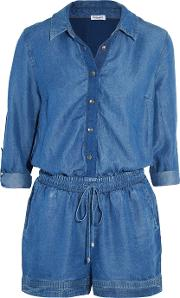 Splendid , Denim Playsuit Mid Denim