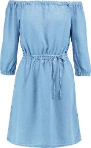 Splendid , Off The Shoulder Chambray Mini Dress Light Denim