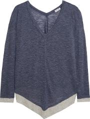 Splendid , Slub Knitted Top Navy
