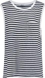 Splendid , Striped Jersey Tank Black
