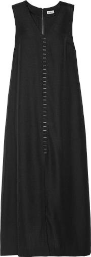 Suno , Embellished Canvas Midi Dress Black