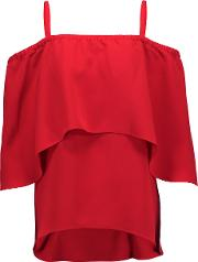Tanya Taylor , Ione Crepe Top Red